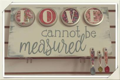 love cannot be measured